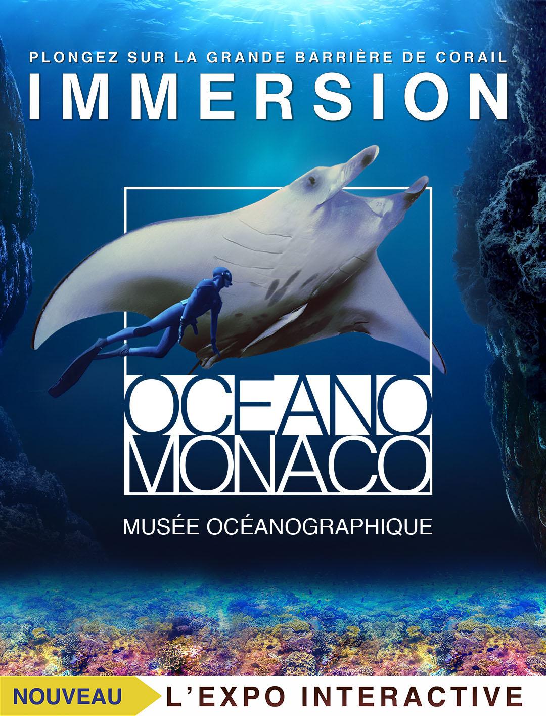 Affiche de l'exposition Immersion - Musée océanographique de Monaco